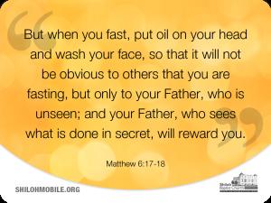 Image of Matthew 6:17-18